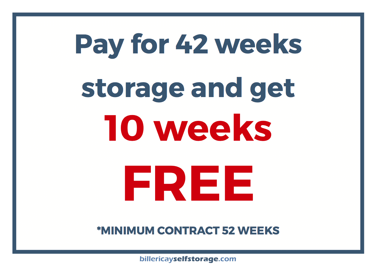 10 weeks free storage